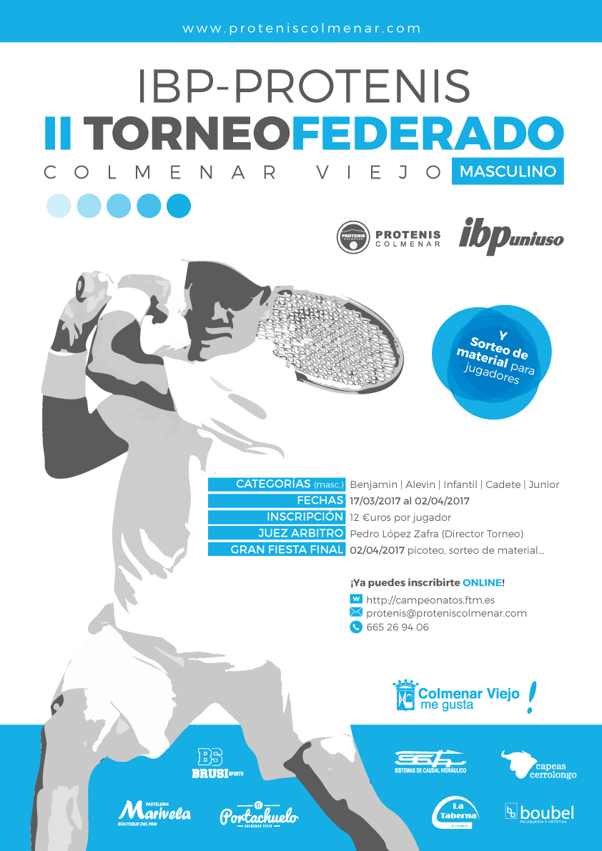 III Torneo Federado IBP-Protenis Colmenar 2018