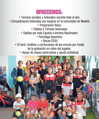 Nuevo Curso de Tenis 2017-2018