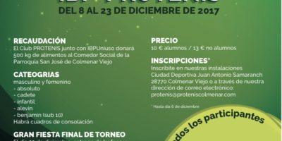 III Torneo Benéfico de Navidad 2017 IBP-PROTENIS
