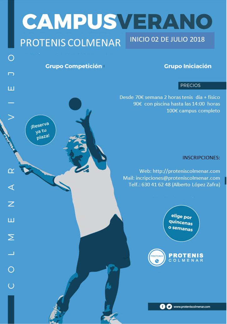 Campus Tenis VERANO Julio 2018