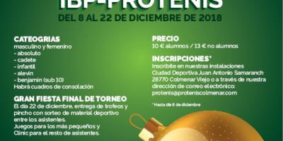 IV Torneo Navideño 2018 IBP-PROTENIS COLMENAR. Cuadros