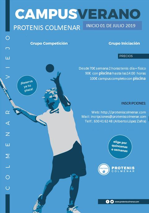 Campus Tenis VERANO Julio 2019