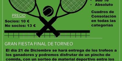 V Torneo de Navidad 2019 PROTENIS COLMENAR